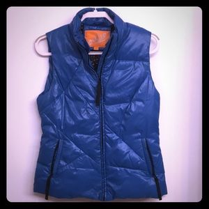 Metro Blue Quilted Down Puffer Vest S